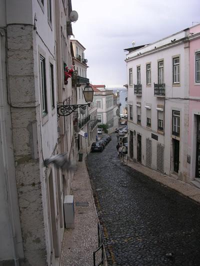 Lisbon Bairro Castelo Rua do Chao da Feira