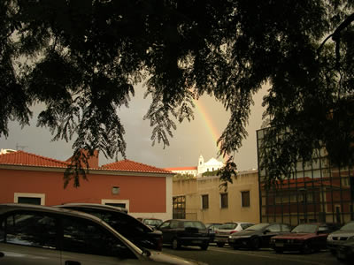 Walking around Hospital São José4 rainbow