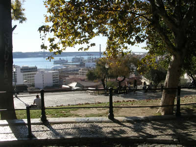 Lisbon Miradouro de Santa Catarina Adamastor dec 08