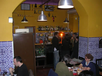 Lisbon A Camponesa traditional cheap restaurant Santa Catarina