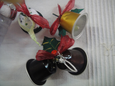 Feira da Ladra Alternativa recycled Nespresso caps Christmas