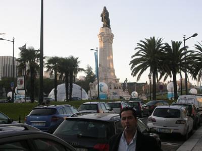 Lisbon Avenida da Liberdade Pombal statue