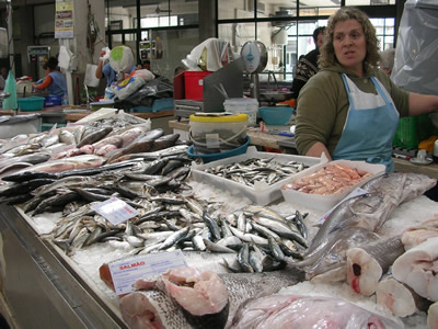 Lisbon market in Arroios fish