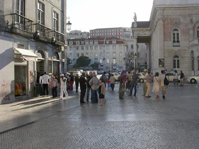 Rossio Lisbon Theatre National Dona Maria II and ginja cafe