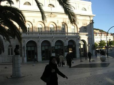 Theatre Dona Maria II Lisbon near Rossio Station