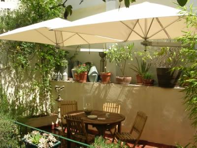 Apartment Mouraria historical center Lisbon Patio new umbrellas 5 2