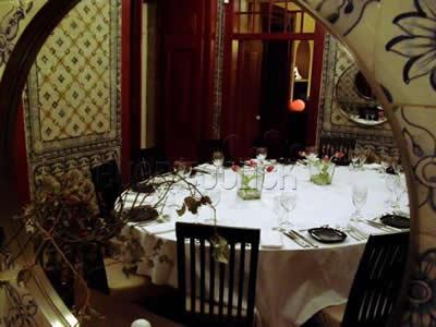 Lisbon Clube de Jornalistas Lapa dining inside