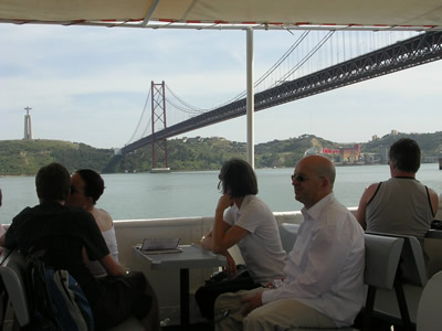Lisbon 3 hrs Cruise trip Tagus river Lisbon traditional boat Cacilheiro April Bridge 4