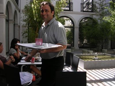 Restaurant Casa da Comida Museum Sao Roque garden waiter Manuel Silva