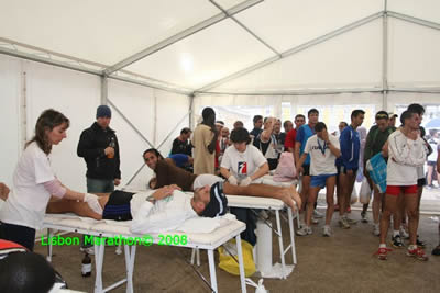 The Lisbon Marathon December 2008 sport massage