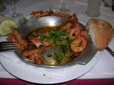 Restaurant Casa da India garlic prawns3