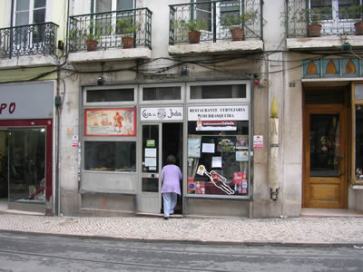 Restaurant Casa da India Lisbon street traditional Portuguese food