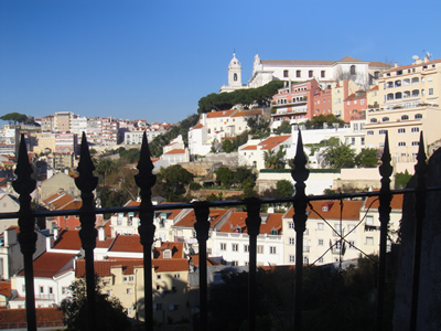 Lisbon Mouraria area seen from nearby Costa do Castelo