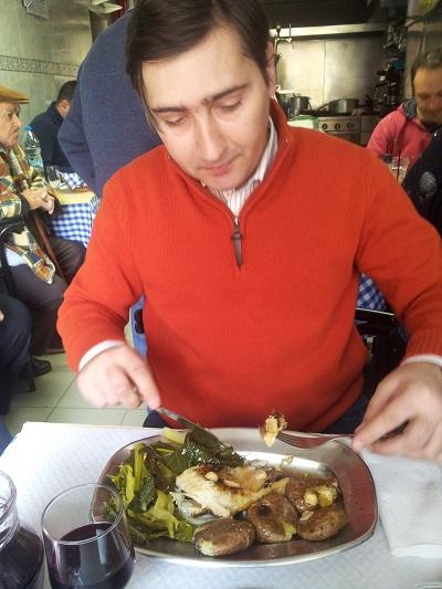 Mouraria restaurant Jose Maria lunch Pedro Rita