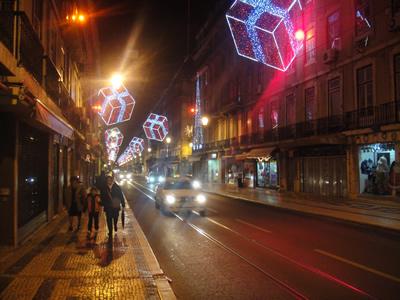 Lisbon Christmas 2009 Rua da Prata