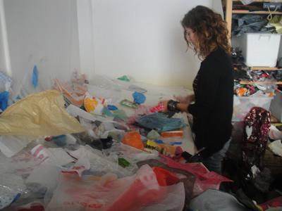 Sandra Guerreiro designer Lisbon atelier reusing plastic bags