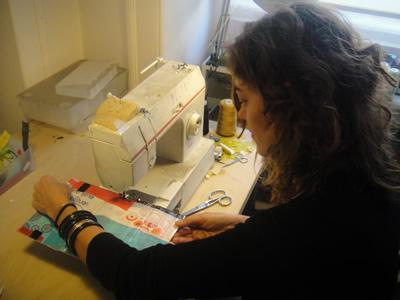 Sandra Guerriero Designer Lisbon atelier at work