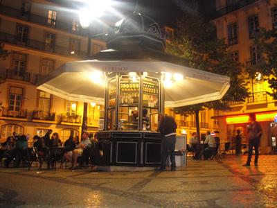 Kiosks in Lisbon Camões Square