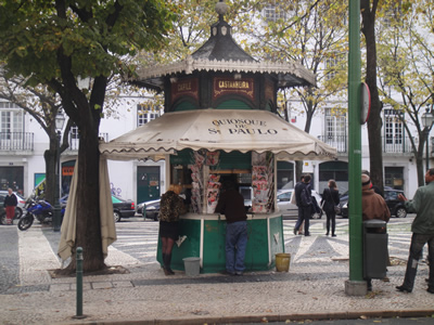 Kiosks in Lisbon Sao Paulo near Cais do Sodre