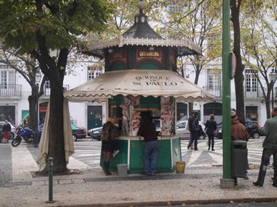 Kiosks in Lisbon Sao Paulo near Cais do Sodre