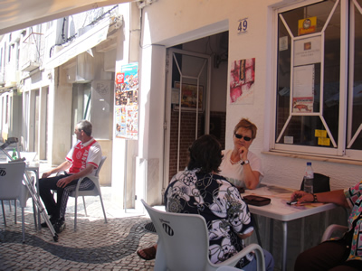 Montijo near Lisbon city centre cafe