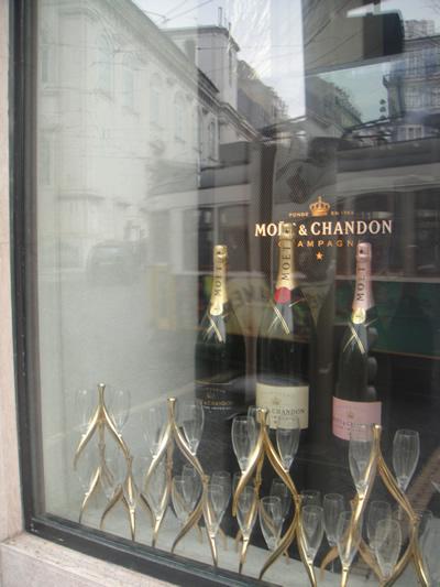 Bairro Alto Hotel window dressing champaign