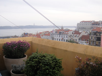 Hotel Bairro Alto Lisbon roof terrace light lunch 4 view river Tagus