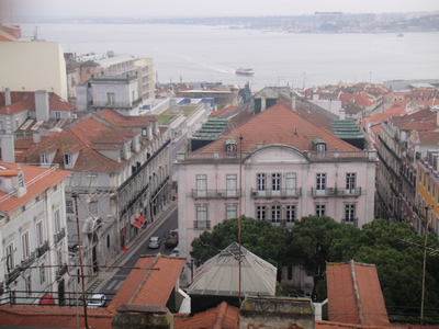 Hotel Bairro Alto Lisbon roof terrace light lunch 5 view city