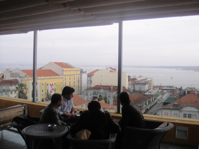 Hotel Bairro Alto Lisbon roof terrace light lunch 6 view city