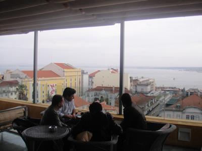 Hotel Bairro Alto Lisbon roof terrace light lunch 6 view city