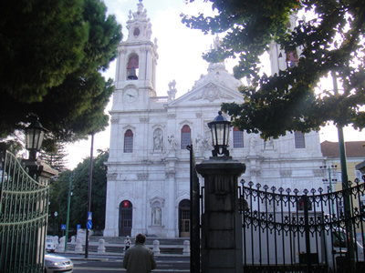 Lisbon Estrela Park church entrance