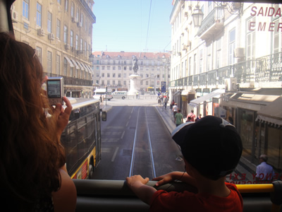 Lisbon sightseeing the yellow double decker1 city