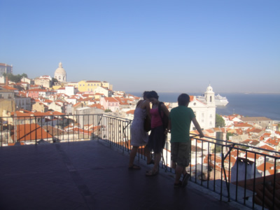 Lisbon tourist attraction river Tagus viewpoint Portas do Sol