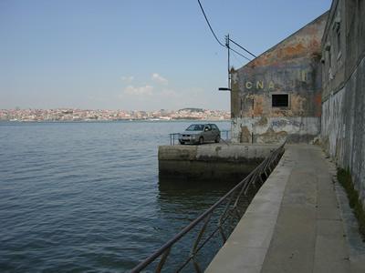 abandoned and ruinous warehouses Cacilhas