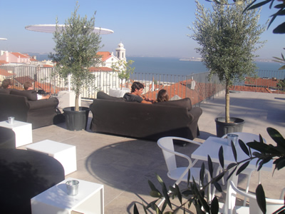 Portas do Sol terrace Lisbon Tagus view 5 lounge sofas