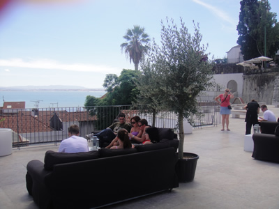 Portas do Sol terrace Lisbon Alfama Tagus view 4 lounge sofas
