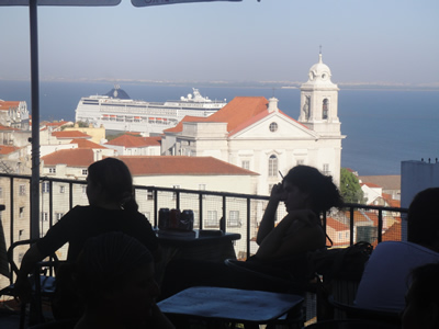 Portas so SOl viewpoint miradouro Alfama Lisbon cruise ship