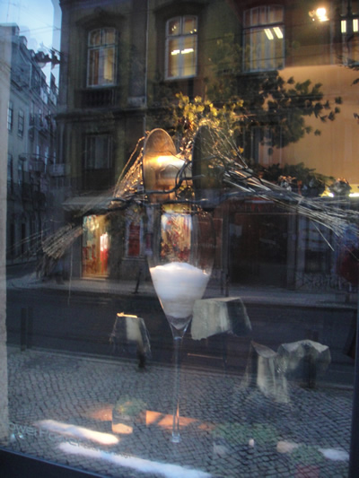 Flower Power food and flowers Bairro Alto Lisbon flowers window dressing