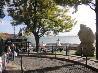 Viewpoint Adamastor Lisbon Tagus River Santa Catarina Palace POP UP1
