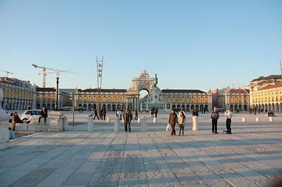 Lisbon Praça do Comércio Feb 2011