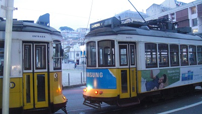 Square Martim Moniz Lisbon Starting point tram 28