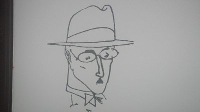 Winebar  AI MOURARIA door drawing Pessoa