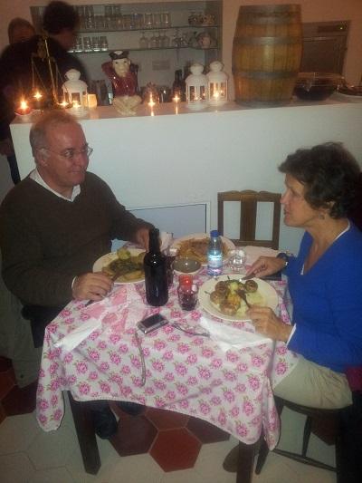 Casa Maria da Severa Lisbon Mouraria dinner feb 14 3 Josephine e Jorge