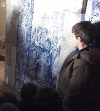 Museum Decorative Arts Fress Lisbon Panel azulejos children 2
