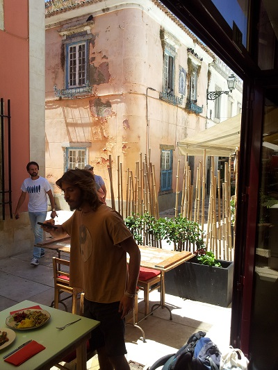 Vegetarian restaurant House of Wonders Cascais street 2 June 2014