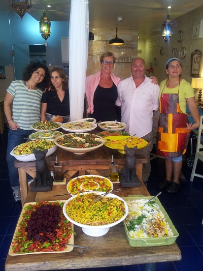 Vegetarian restaurant House of Wonders Cascais street 3 June 2014