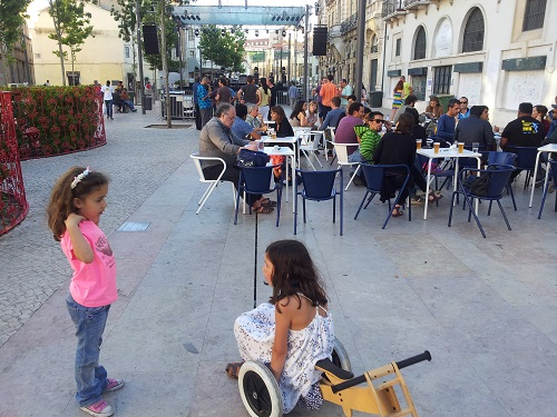 Lisbon Intendente Square Mouraria June 2014