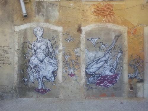 Lisbon Largo intendente june 2014 wall drawings