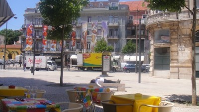 Lisbon Square Intendente Mouraria Terrace bar bistro Josephine'