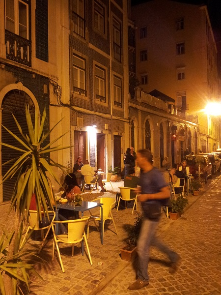 Restaurant 'Oh Nesta Mente' Intendente Lisbon street new terrace sept 2014